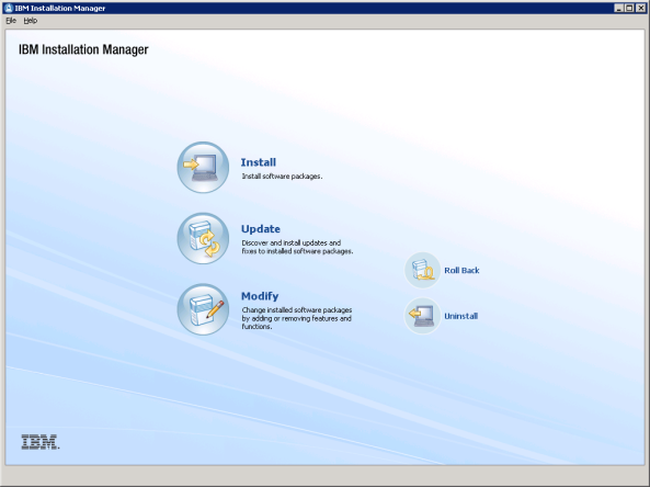 Installation Manager GUI